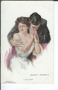 AY-021 - A Love Knot Artist Signed Alonzo Kimball 1907-1915 Golden Age Postcard