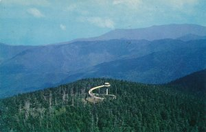Clingmans Dome Observation Tower - Great Smoky Mountains TN, Tennessee - pm 1962