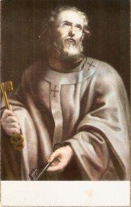St. Peter. San Pedro Spanish religious postcvard 1050s