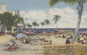Florida Miami Beach Sun Bathing At Surfside