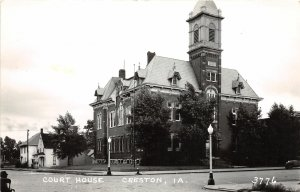 G24/ Creston Iowa Real Photo RPPC Postcard c40s Court House
