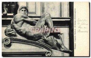 Old Postcard Italy Firenze Medici Chapels Michelangelo il giorno