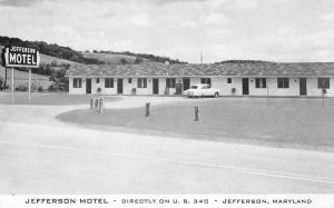 Jefferson Maryland Motel Street View Antique Postcard K98994