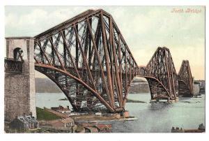 UK Scotland Forth Bridge Edinburgh Valentine Series Postcar