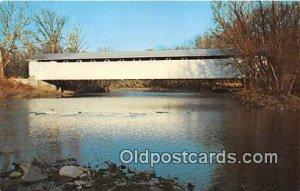 Covered Bridge Vintage Postcard Brown County, OH, USA unused