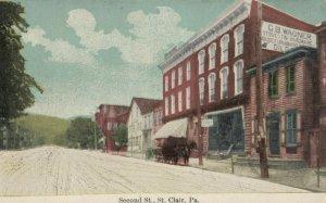 ST. CLAIR , Pennsylvania, 1900-10s ; Second Street