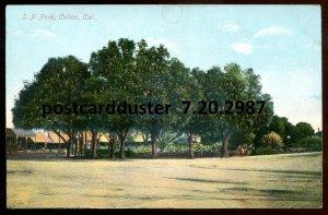 2987 - COLTON California Postcard 1910s SP Park by Thiebaud