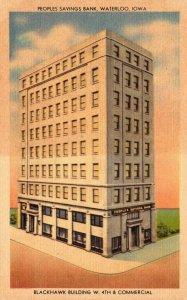 Iowa Waterloo Peoples Savings Bank Blackhawk Building