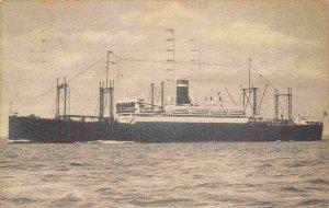 SS President Harding Ocean Liner Ship 1937 postmarked Le Havre postcard