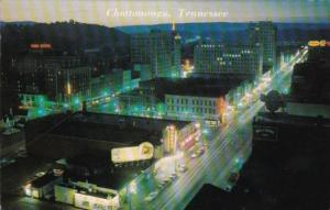 Tennessee Chattanooga Night View 1964