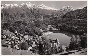 Switzerland St Moritz Totalansicht Photo