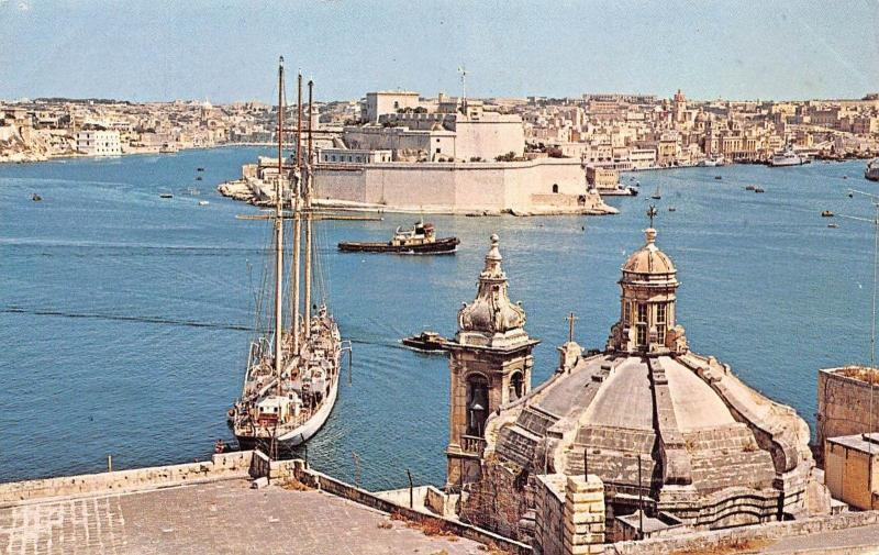 Malta The Grand Harbour Church of Our Lady, Fort St. Angelo