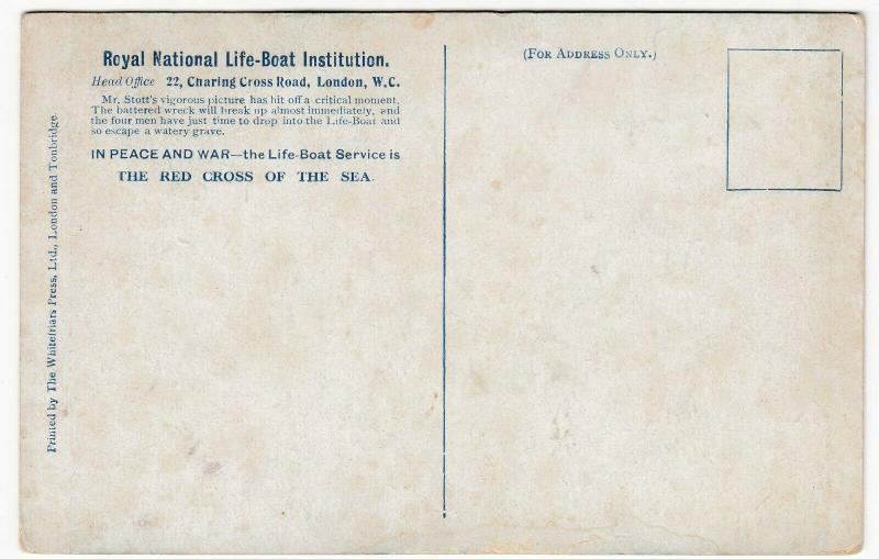 RNLI Lifeboat,  'Red Cross Of The Sea' PPC Unposted Fundraising Card c 1910