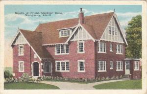 Alabama Montgomery Knights Of Pythias Childrens' Home 1944