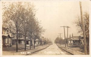 E73/ Carrollton Ohio RPPC Postcard c1910 High Street Homes 5