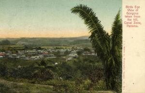 panama, GORGONA, Canal Zone, Birds Eye View from the Hill (1910s)
