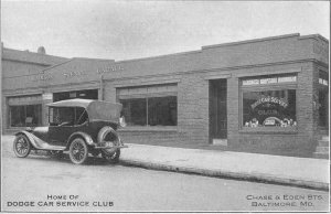 Baltimore Maryland Dodge Car Service Club Vintage Postcard AA1920