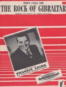 The Rock Of Gibraltar Frankie Laine 1950s Sheet Music