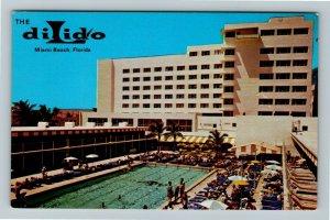 Miami Beach FL- Florida, Hotel Dilido, Ocean View, Chrome Postcard