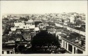San Juan Puerto Rico Birdseye View c1910 Real Photo Postcard jrf
