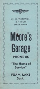 Booklet , Moore's Garage , FOAM LAKE , Saskatchewan , Canada , 1910-30s
