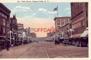 FALLS STREET, NIAGARA FALLS, NY early vintage autos