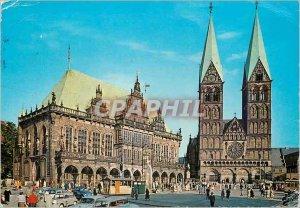 Modern Postcard Bremen Rathaus und Dom