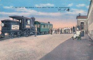 Mt Washington White Mountains New Hampshire Cog Railway on Top of World pm 1908