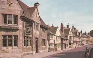 St Pauls Street Stamford Half Moon Pub Lincs 1970s Postcard