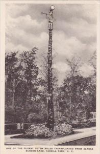 New York Averill Park One Of The Oldest Totem Poles Transplanted From Alaska ...