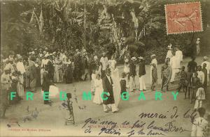 1905 Dahomey Carte Postale: Festive Black Wedding