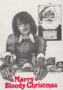 Merry Bloody Christmas Swearing Torture Anti Christmas Comic Postcard