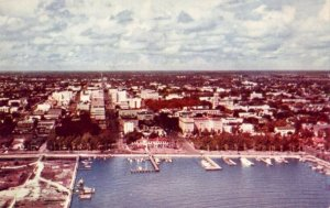 AERIAL VIEW OF ST. PETERSBURG, FL WITH YACHT HARBOR IN THE FOREGROUND