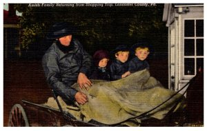 Pennsylvania   Amish family returning home in Buggy