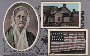 FREDERICK, Maryland, 1900-1910s; Barbara Fritchie Her House And American Flag