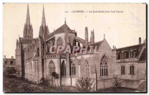 Old Postcard The Cathedral Quimper (South West Coast)