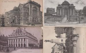 Lille Port De Paris Pasteur Monument 4x Antique French Postcard s