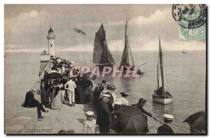 Treport - La Jetee - Old Postcard