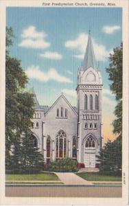 Mississippi Grenada First Presbyterian Church Curteich