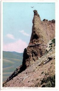 YELLOWSTONE, EAGLE'S NEST ROCK, GARDINER CANYON, DIVIDED BACK