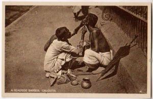 A Roadside Barber, Calcutta