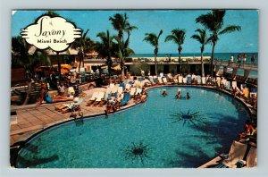 Miami FL- Florida, The Saxony Resort, Miami Beach, Chrome Postcard