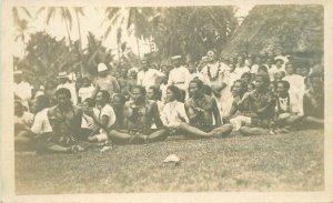 Samoa South Pacific Siva Siva Dancers C-1910 RPPC Photo Postcard 21-9845