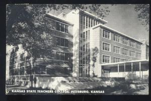 RPPC PITTSBURG KANSAS STATE TEACHERS COLLEGE VINTAGE REAL PHOTO POSTCARD