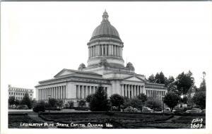 RPPC  OLYMPIA, WA Washington STATE CAPITOL BUILDING c1940s  Ellis #1609 Postcard
