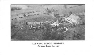 Bedford MA LLewsac Lodge As Seen from the Sky Aerial View Postcard