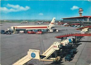 Fiumicino Intercontinental Airport of Rome Leonardo da Vinci Italy planes 1966