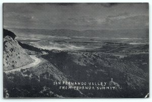 VTG Postcard CA California Topanga Canyon San Fernando Valley Burbank VanNuys A5