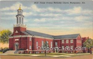 Churches Vintage Postcard Montgomery, Alabama, USA Vintage Postcard Forest Av...
