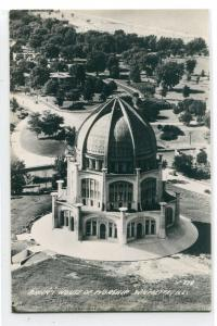 Baha'i House of Worship Wilmette Illinois 1950s  RPPC Real Photo postcard
